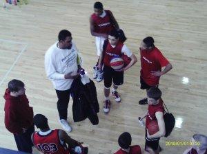 coach earl coaching the players